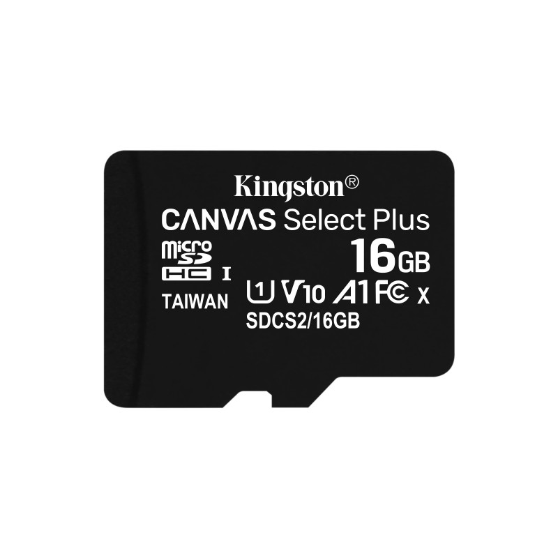 16GB MICSDHC CANVAS SELECT PLUS 100R A1 C10 CARD + ADP
